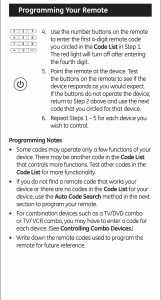 Programming Your Remote 2